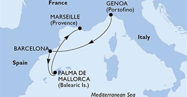 MSC Opera - Itálie, Španělsko, Francie (z Janova)