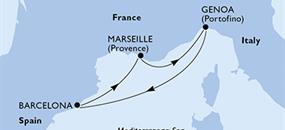 MSC Virtuosa - Francie, Itálie, Španělsko (Marseille)