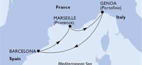MSC Virtuosa - Itálie, Španělsko, Francie (z Janova)