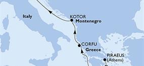 MSC Musica - Řecko, Černá Hora, Itálie (z Pirea)