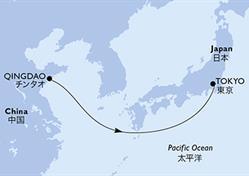 MSC Bellissima - Čína, Japonsko (Qingdao)