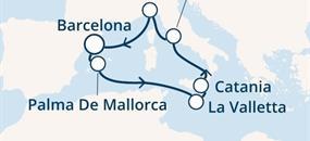 Costa Pacifica - Španělsko, Baleáry, Malta, Itálie (z Barcelony)