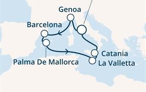 Costa Pacifica - Itálie, Španělsko, Baleáry, Malta (z Civitavecchie)