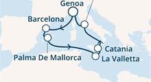 Costa Pacifica - Itálie, Španělsko, Baleáry, Malta (z Janova)