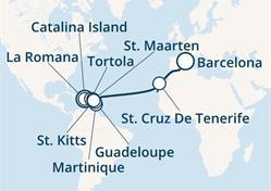 Costa Magica - Dominikán.rep., Panenské ostrovy, Antily, Kanárské ostrovy, Španělsko (z La Romana)