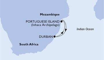 MSC Musica - Jihoafrická r., Mosambik (Durban)