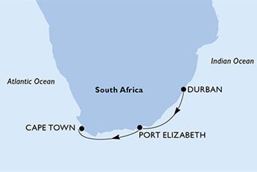 MSC Opera - Jihoafrická r. (Durban)