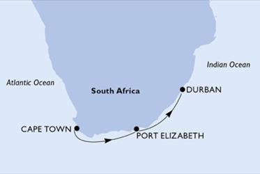 MSC Opera - Jihoafrická r. (Kapské město)
