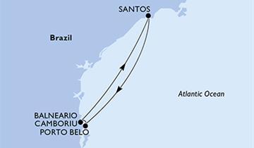 MSC Preziosa - Santos, Porto Belo, Camboriu, Santos (Santos)