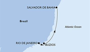 MSC Preziosa - Rio de Janeiro, Buzios, Salvador (z Rio de Janeira)