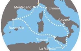 Costa Favolosa - Itálie, Francie, Španělsko, Kanárské ostrovy, Antily (ze Savony)