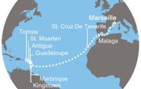 Costa Magica - Francie, Španělsko, Kanárské ostrovy, Antily, Panenské ostrovy (Marseille)