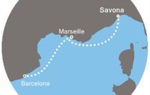 Costa Pacifica - Itálie, Francie, Španělsko (ze Savony)
