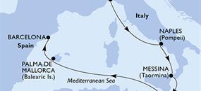 MSC Grandiosa - Itálie, Malta, Španělsko (z Janova)