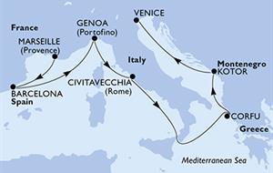 MSC Magnifica - Francie, Španělsko, Itálie, Řecko, Černá Hora (Marseille)