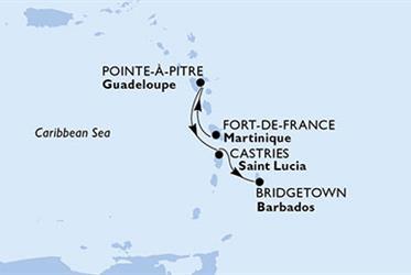 MSC Preziosa - Martinik, Guadeloupe, Sv.Lucie, Barbados (Fort-de-France)