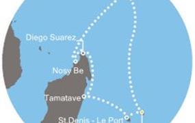 Costa Mediterranea - Mauritius, Seychely, Madagaskar, Réunion (Port Louis)