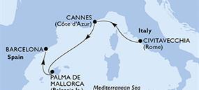 MSC Seaview - Itálie, Francie, Španělsko (z Civitavecchie)