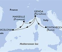 MSC Virtuosa - Itálie, Španělsko, Francie