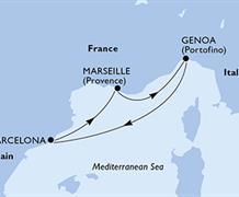 MSC Virtuosa - Francie, Itálie, Španělsko