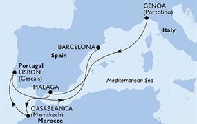 MSC Splendida - Itálie, Španělsko, Maroko, Portugalsko (z Janova)