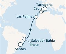 Costa Luminosa - Španělsko, Kanárské ostrovy, Brazílie (Tarragona)