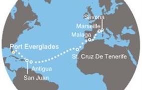 Costa Luminosa - Florida, Portoriko, Antily, Kanárské ostrovy, Španělsko, Francie, Itálie (z Fort Lauderdale)