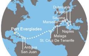 Costa Luminosa - Florida, Portoriko, Antily, Kanárské ostrovy, Španělsko, Francie, Itálie, Chorvatsko (z Fort Lauderdale)