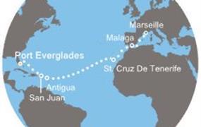 Costa Luminosa - Florida, Portoriko, Antily, Kanárské ostrovy, Španělsko, Francie (z Fort Lauderdale)