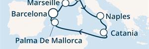 Costa Diadema - Španělsko, Francie, Itálie, Baleáry (z Barcelony)