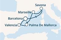 Costa Favolosa - Španělsko, Baleáry, Francie, Itálie (z Barcelony)