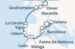 Costa Favolosa - Anglie, Španělsko, Portugalsko, Baleáry, Itálie, Francie (IJmuiden)