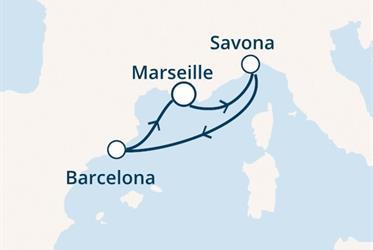 Costa Favolosa - Francie, Itálie, Španělsko (Marseille)