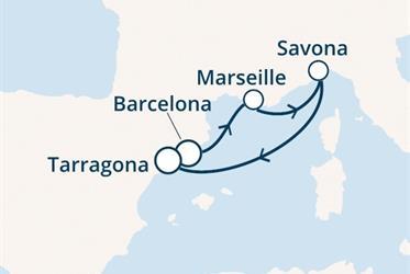 Costa Fortuna - Španělsko, Francie, Itálie (z Barcelony)