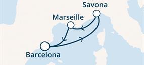 Costa Fortuna - Španělsko, Itálie, Francie (z Barcelony)