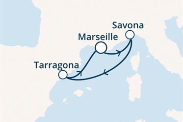 Costa Fortuna - Francie, Itálie, Španělsko (Marseille)