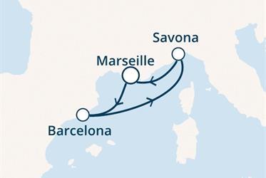 Costa Fortuna - Francie, Španělsko, Itálie (Marseille)