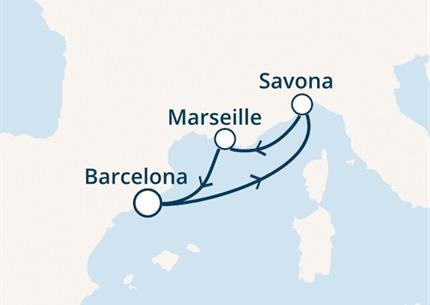 Costa Fascinosa - Španělsko, Itálie, Francie (z Barcelony)