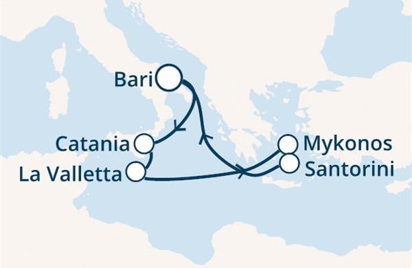 Costa Magica - Itálie, Malta, Řecko (Bari)