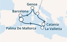 Costa Pacifica - Baleáry, Malta, Itálie, Španělsko (Palma de Mallorca)