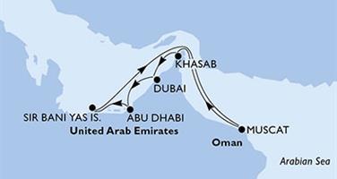 MSC Opera - Arabské emiráty, Omán (z Abú Dhabí)