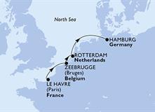 MSC Preziosa - Francie, Belgie, Nizozemí, Německo (Le Havre)