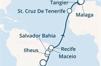 Costa Fascinosa - Brazílie, Kanárské ostrovy, Maroko, Gibraltar, Španělsko (z Rio de Janeira)