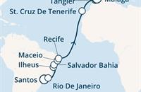 Costa Fascinosa - Brazílie, Kanárské ostrovy, Maroko, Gibraltar, Španělsko (Santos)