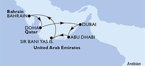 MSC Fantasia - Katar, Arabské emiráty, Bahrajn (Dauhá)