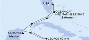 MSC Seaside - USA, Bahamy, Kajmanské ostrovy, Mexiko