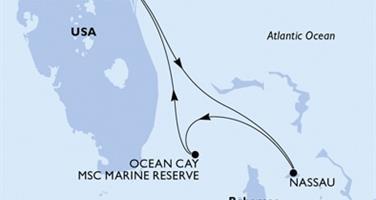 MSC Seaside - USA, Bahamy