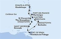 MSC Poesia - Martinik, Guadeloupe, Sv.Lucie, Barbados, Trinidad a Tobago, Grenada, Saint Vincent & The Grenadines (Fort-de-France)
