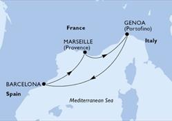 MSC Fantasia - Janov,Barcelona,Marseille,Janov (z Janova)