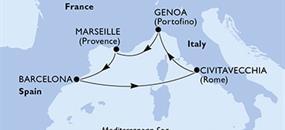 MSC Magnifica - Itálie,Francie,Španělsko